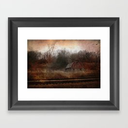 Stone Tracks Framed Art Print