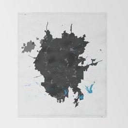 San Antonio Texas Minimalist Map (Light) Throw Blanket