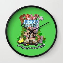 It's A Small Jurassic World Wall Clock