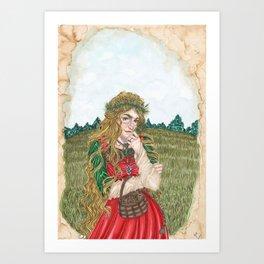 Goddess Sif Art Print