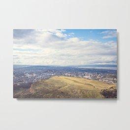 Overlooking Edinburgh Metal Print