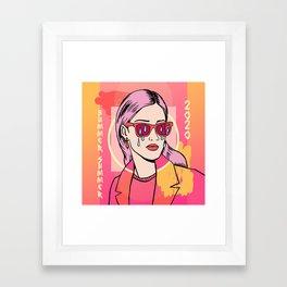 Bummer Summer Gurl Framed Art Print
