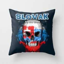 To The Core Collection: Slovakia Throw Pillow