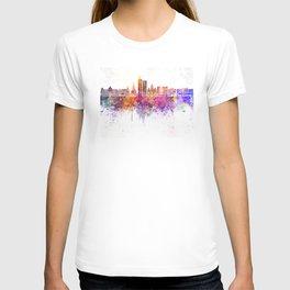 Santiago de Cali skyline in watercolor background T-shirt