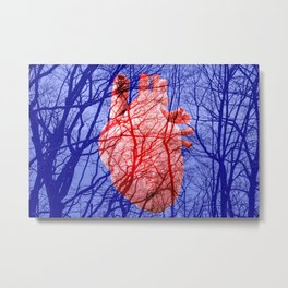 Heart with vessels Metal Print