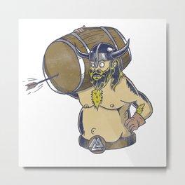 Viking Nordic Beer Drinking Party Valhalla Gift Metal Print
