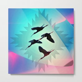 Native White-Faced Ibis Metal Print