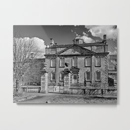 Harrington House. B&W Metal Print