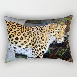 Standing Leopard Rectangular Pillow