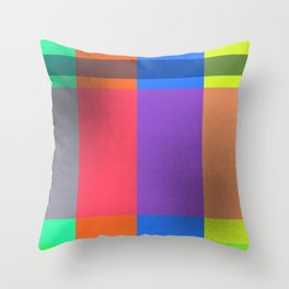 Rectangles in Square Throw Pillow