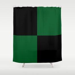Big mosaic dark green - black Shower Curtain