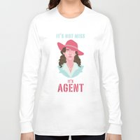 agent carter Long Sleeve T-shirts featuring It's Agent by Courtney Yu
