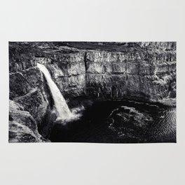 Hidden Waterfall Black and White Rug