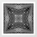 Black & White Tribal Symmetry by webgrrl