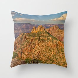 Panorama of the Sinking Ship and Coronado Butte at Grand Canyon Throw Pillow