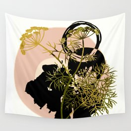 Umbellifer and abstract background Wall Tapestry