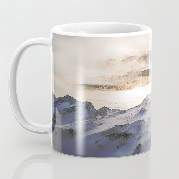 Christian Cross On Mountain Coffee Mug
