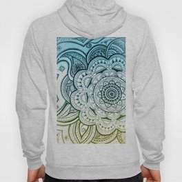 Mandala Blue Yellow Hoody