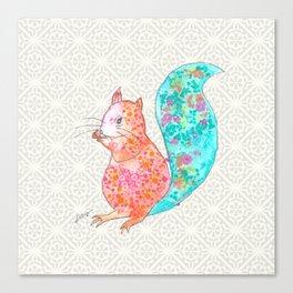 Nom Nom Squirrel Canvas Print