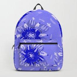 Blue Christie Rose Backpack