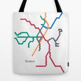 Boston Subway - The T Tote Bag