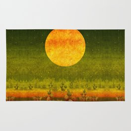 """""""Green Lemon Sunset"""" Rug"""