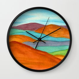 Mountain Vista - Rainbow Wall Clock