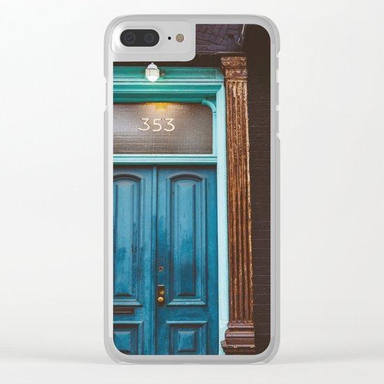 Brooklyn Door II Clear iPhone Case
