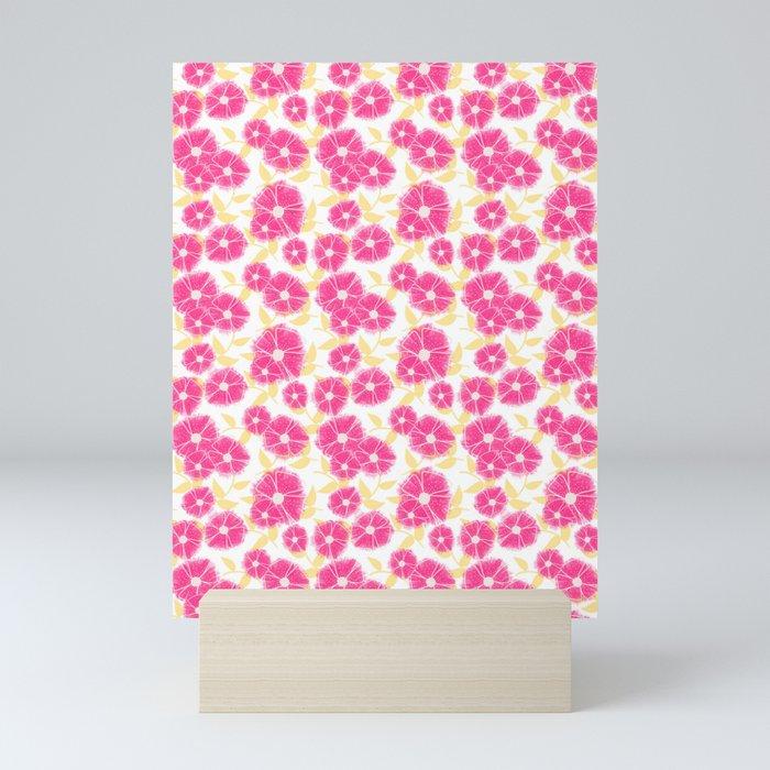 12 Sketched Mini Flowers Mini Art Print