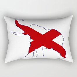 Alabama Republican Elephant Flag Rectangular Pillow