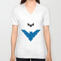 nightwing V-neck T-shirts featuring Nightwing by JHTY