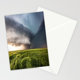 Leoti's Masterpiece - Incredible Storm in Western Kansas Stationery Cards