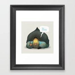 Seymour the Ankle Smoocher Framed Art Print