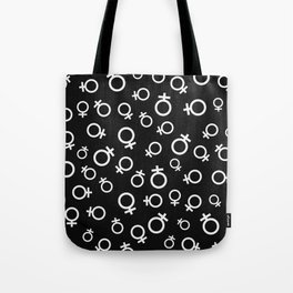 Female Venus Symbol (Black) Tote Bag