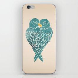 Love Birds (Blue) iPhone Skin