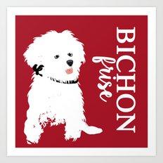 Bichon Frise Dog art Art Print