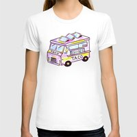 truck T-shirts featuring Taco Truck by Sabrina May
