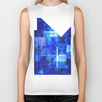 discount Biker Tanks featuring Sapphire Nebulæ by Aaron Carberry