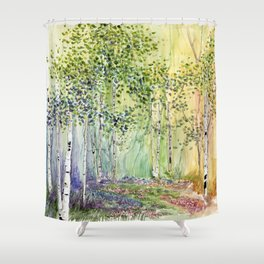 4 season watercolor collection - spring Shower Curtain