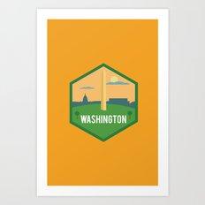 WASHINGTON D.C (I LOVE USA SERIE) Art Print