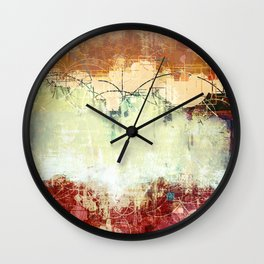 Vintage Abstract Art Wall Clock