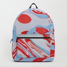 Swirl of red and blue Backpack