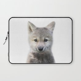 Baby Wolf, Baby Animals Art Print By Synplus Laptop Sleeve