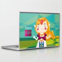 zelda Laptop & iPad Skins featuring Zelda by suupergirl