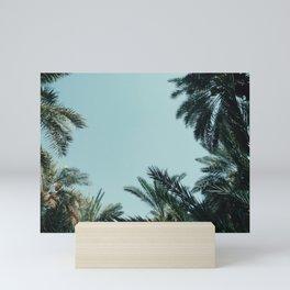 Saudi Arabia palm trees Mini Art Print