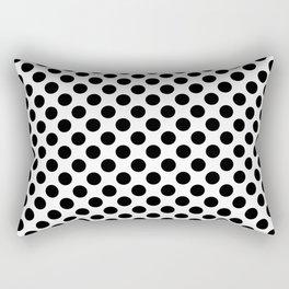 Minimalistic medium polka dots pattern, black and white Rectangular Pillow