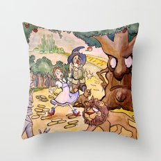 Apple Trees Throw Pillow