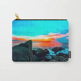 beach summer sunset with blue cloudy sky Carry-All Pouch
