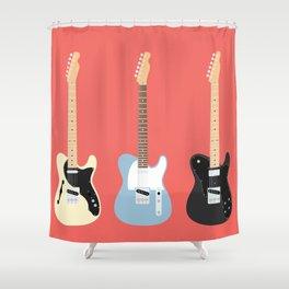Flat Telecaster 5 Shower Curtain