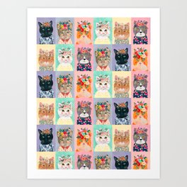 Cat land Art Print